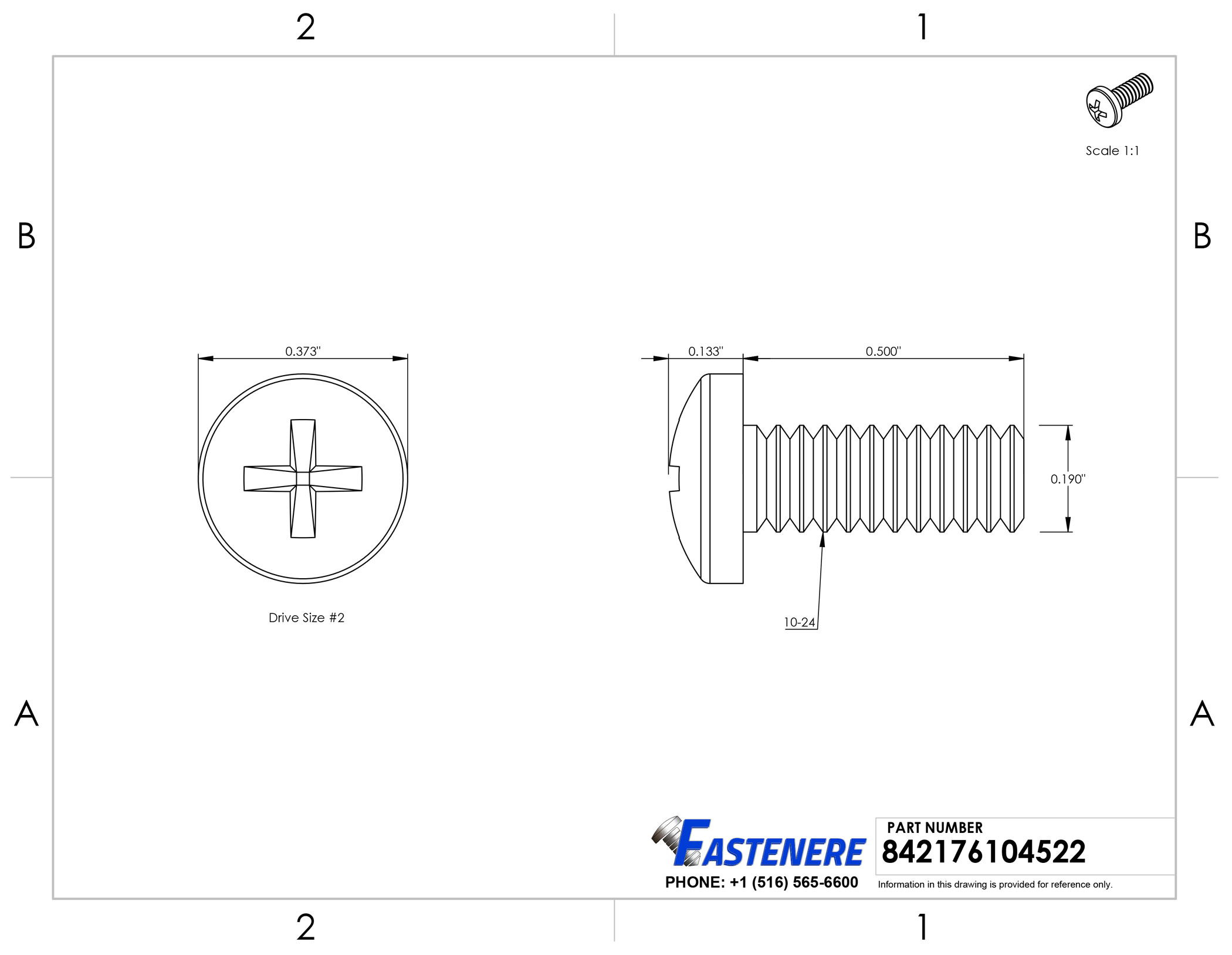 Plain Finish 1 Length Stainless Steel Machine Screw #12-24 Threads Pack of 25 Drilled Spanner Drive Pan Head