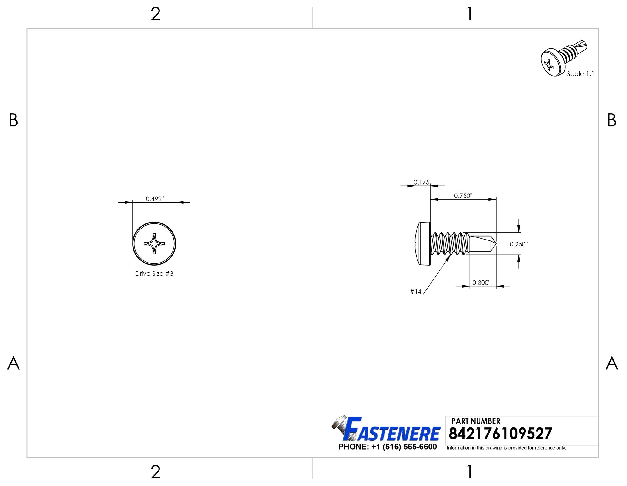 Stainless Steel Square Drive Truss Head Sheet Metal Screw #10 x 3//4 Qty 250