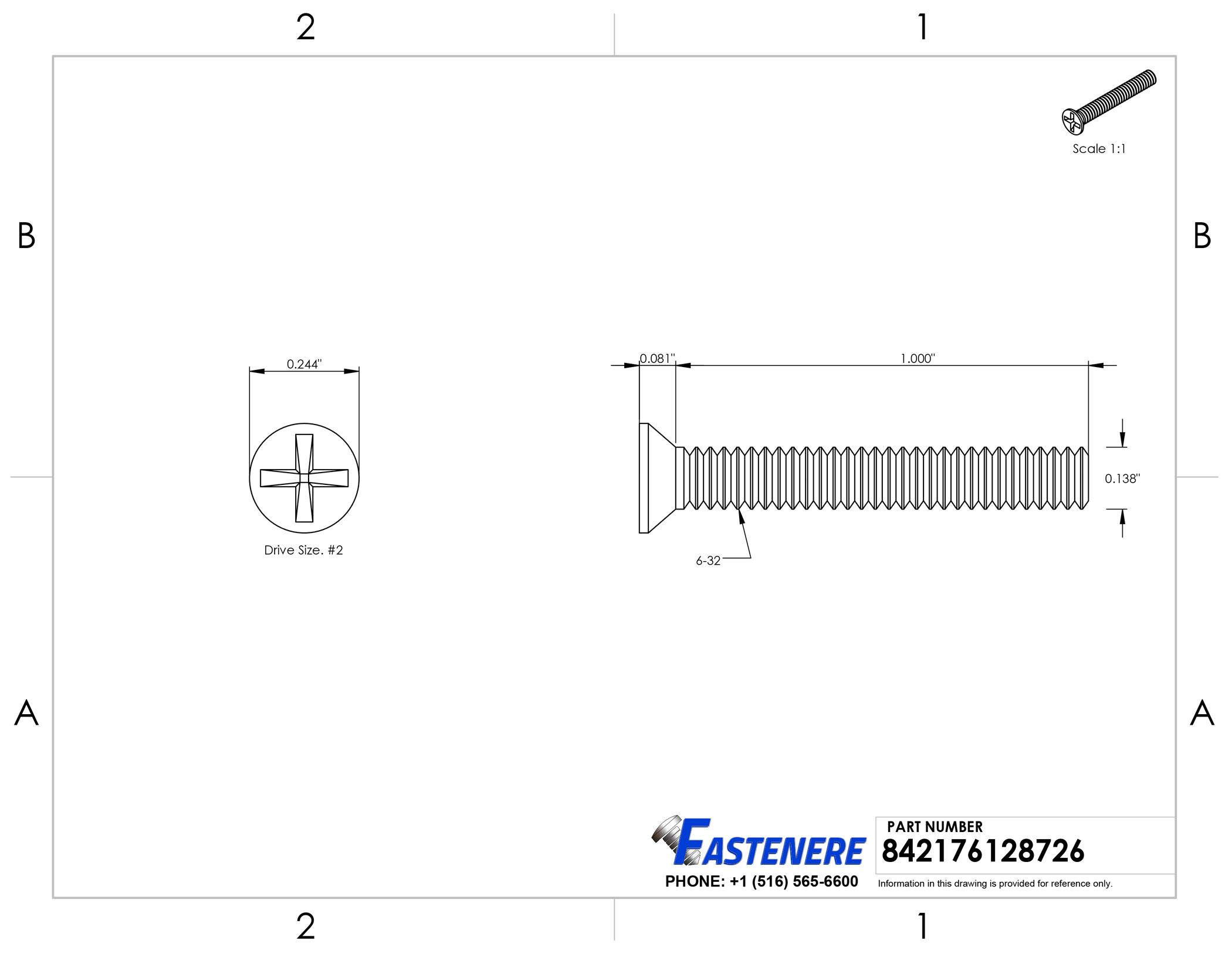 #6-32 Flat Head Machine Screws Assortment Kit Stainless Steel Qty110 Phillips
