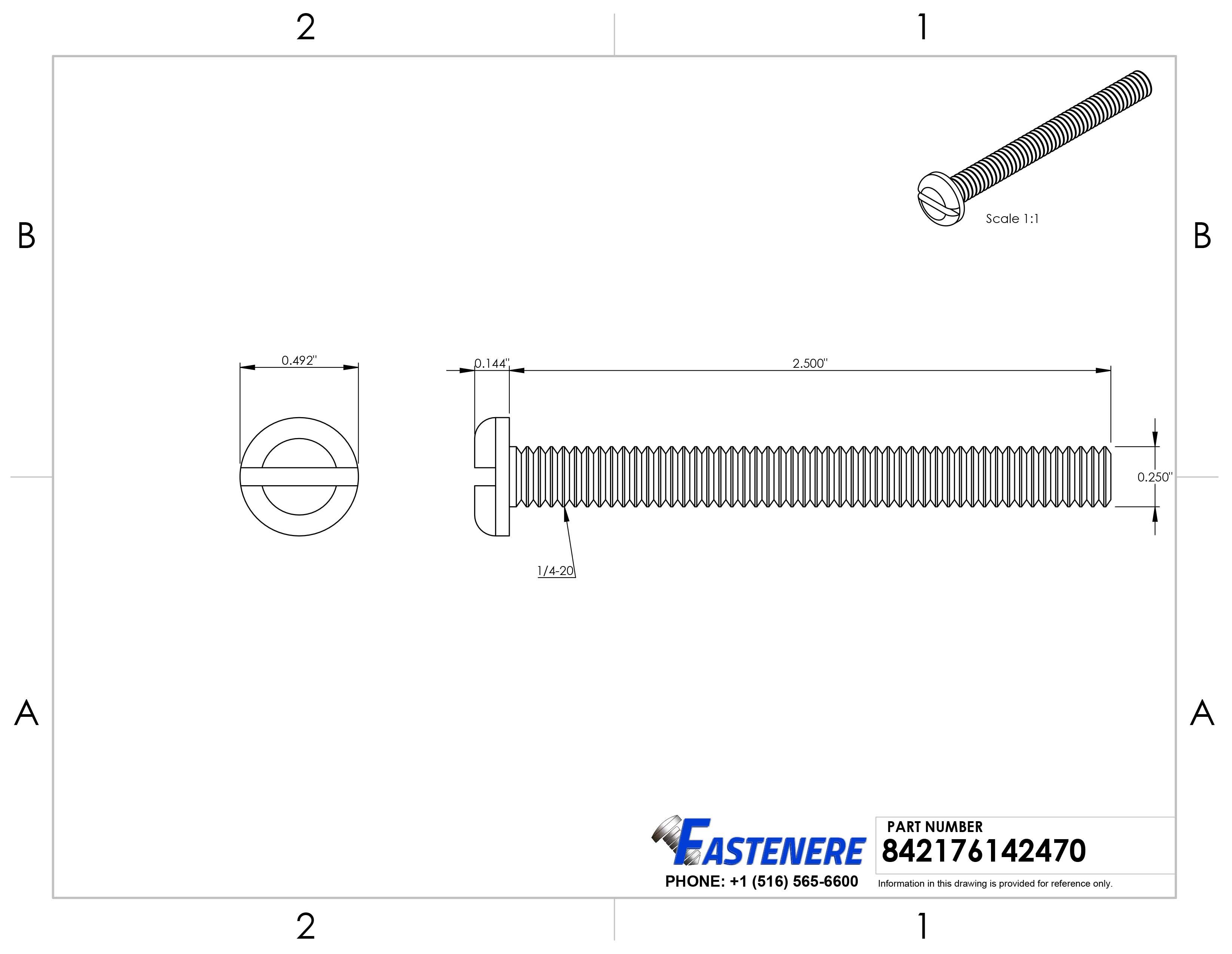 Threaded Stud U22080.125.0550 PK20 Pln 1-1//4-8x5-1//2 B7